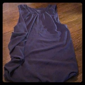 Grey tank top with flowy detail